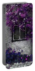 Orchid Vines Window And Gray Stone Portable Battery Charger