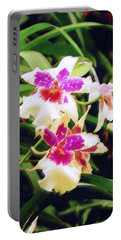 Portable Battery Charger featuring the painting Orchids 1 by Sandy MacGowan