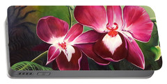 Orchids In The Night Portable Battery Charger