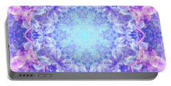 Orchids Mandala Portable Battery Charger