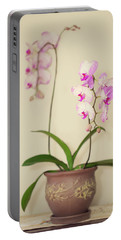 Orchids On Sideboard Portable Battery Charger