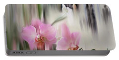 Orchids With Dragonflies Portable Battery Charger