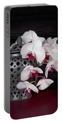 Orchids With Gray Ginger Jar Portable Battery Charger