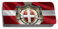 Order Of Malta Coat Of Arms Over Flag Portable Battery Charger