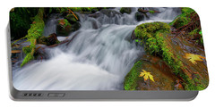Portable Battery Charger featuring the photograph Oregon Cascade by Jonathan Davison
