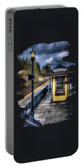 Oregon City Train Depot Portable Battery Charger by Thom Zehrfeld