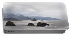 Oregon Coast Mountain Clouds Landscape Portable Battery Charger by Andrea Hazel Ihlefeld