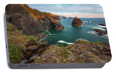 Portable Battery Charger featuring the photograph Oregon Coastal Scenic by Leland D Howard