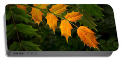 Oregon Grape Autumn Portable Battery Charger