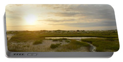Oregon Inlet Sunrise In July Portable Battery Charger