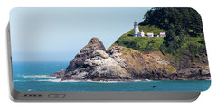 Portable Battery Charger featuring the photograph Oregon Lighthouse by Jonny D