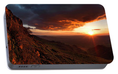 Portable Battery Charger featuring the photograph Oregon Mountains Sunrise by Leland D Howard