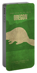 Oregon State Facts Minimalist Movie Poster Art Portable Battery Charger by Design Turnpike