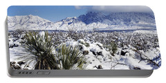 Portable Battery Charger featuring the photograph Winter's Blanket Organ Mountains by Kurt Van Wagner