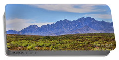 Organ Mountains  Portable Battery Charger by Gina Savage