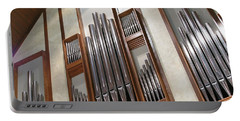 Portable Battery Charger featuring the photograph Organ Pipes by Ann Horn