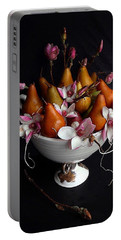 Organic Bosc Pears And Magnolia Blossoms Portable Battery Charger