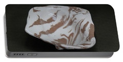 Organic Oval Marbled Ceramic Dish Portable Battery Charger by Suzanne Gaff
