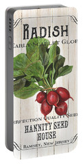 Portable Battery Charger featuring the painting Organic Seed Packet 3 by Debbie DeWitt