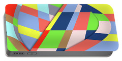 Portable Battery Charger featuring the digital art Organized Cubic Chaos by Bruce Stanfield
