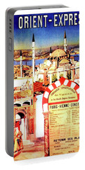 Orient Express, Istanbul, Vintage Travel Poster Portable Battery Charger