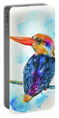 Oriental Dwarf Kingfisher Portable Battery Charger by Zaira Dzhaubaeva