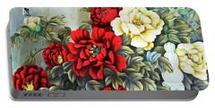 Portable Battery Charger featuring the photograph Oriental Flowers by Munir Alawi