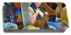 Portable Battery Charger featuring the painting Oriental Merchant by Wayne Pascall