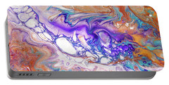 Oriental Treasures Fragment 7. Abstract Fluid Acrylic Painting Portable Battery Charger