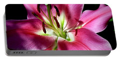 Oriental Trumpet Lily Portable Battery Charger
