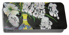 Oriental Vase And Flowers Portable Battery Charger