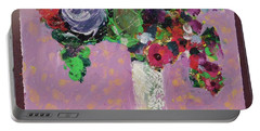 Original Bouquetaday Floral Painting 12x12 On Canvas, By Elaine Elliott, 59.00 Incl. Shipping Portable Battery Charger
