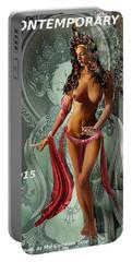 Original Female Nude Jean Goddess As Tara Dancing Poster Portable Battery Charger