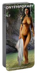 Original Female Nude Jean Goddess Venus Bathing Poster Portable Battery Charger