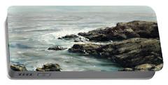 Original Fine Art Painting Bass Rocks Massachusetts Portable Battery Charger