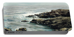Original Fine Art Painting Bass Rocks Massachusetts Portable Battery Charger