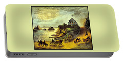 Portable Battery Charger featuring the painting Original San Francisco Cliff House Circa 1865 by Peter Gumaer Ogden