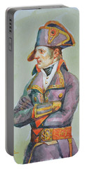 original watercolor painting artwork portrait of NapoLeon on paper#10-029-01 Portable Battery Charger