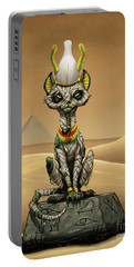 Portable Battery Charger featuring the digital art Osiris Egyptian God by Stanley Morrison