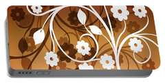 Portable Battery Charger featuring the digital art Ornamental 2 Warm by Angelina Vick