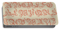 Ornamental German, Large Red Font Portable Battery Charger