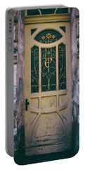 Ornamented Doors In Light Brown Color Portable Battery Charger by Jaroslaw Blaminsky