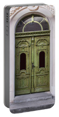 Ornamented Gates In Olive Colors Portable Battery Charger by Jaroslaw Blaminsky