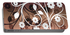 Portable Battery Charger featuring the digital art Ornametal 2 Purple by Angelina Vick