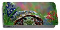Ornate Box Turtle Portable Battery Charger