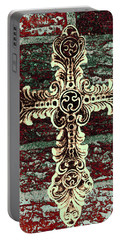 Ornate Cross 1 Portable Battery Charger