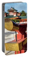 Ornate Details O Heian Jingu Shrine In Kyoto Portable Battery Charger