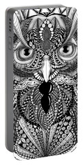 Ornate Owl Portable Battery Charger