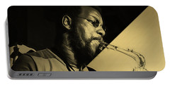 Ornette Coleman Collection Portable Battery Charger by Marvin Blaine