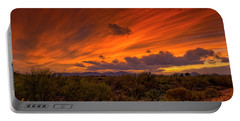 Portable Battery Charger featuring the photograph Oro Valley Sunset H6 by Mark Myhaver